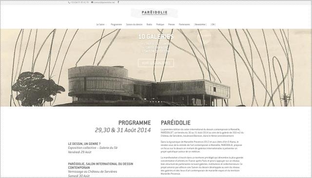 ParéŽidolie / Salon international du dessin contemporain ˆ Marseille / Ch‰âteau de Servières 19 boulevard Boisson 13004 Marseille / © 2014 - Paréidolie | Charte graphique Petroff - Web design Matthieu Weil